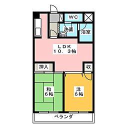 ニッシンパークサイド[3階]の間取り