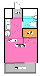 埼玉県所沢市青葉台の賃貸アパートの間取り