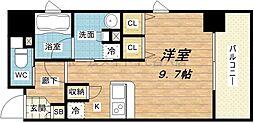 大阪府大阪市中央区高麗橋2丁目の賃貸マンションの間取り