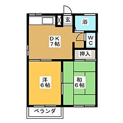 コンシェール石田[2階]の間取り