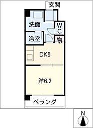 レザンボナール葵[1階]の間取り