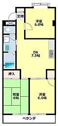 愛知県豊田市宮上町5丁目の賃貸マンションの間取り