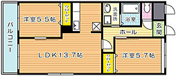 ラフォーレ高尾II[2階]の間取り