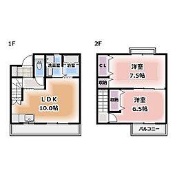 [テラスハウス] 愛知県北名古屋市西之保 の賃貸【/】の間取り