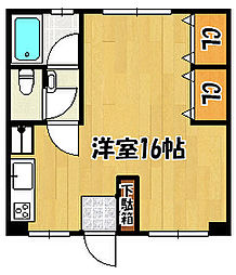 兵庫県明石市大蔵本町の賃貸マンションの間取り