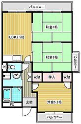たきよしマンション[401号室]の間取り
