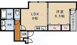 阪急宝塚本線 蛍池駅 徒歩9分の賃貸アパート 3階1LDKの間取り