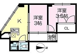坂元町マンション[202号室]の間取り