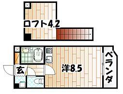 オリエンタル新川[5階]の間取り