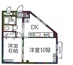 神奈川県横浜市磯子区森5丁目の賃貸マンションの間取り