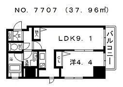 大阪府大阪市浪速区下寺2丁目の賃貸マンションの間取り