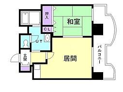 札幌ビオス館 7階1DKの間取り