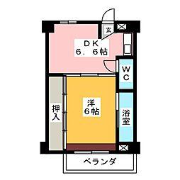 ビレッジハウス関 1号棟[2階]の間取り