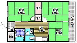 椋本マンション[2階]の間取り