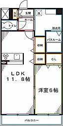 グラン クレシア 4階1LDKの間取り