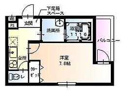 兵庫県尼崎市西立花町3丁目の賃貸アパートの間取り