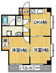 ひかりマンション[401号室]の間取り