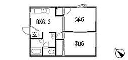 パークハイムA[2階]の間取り