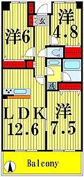RIK西新井[3階]の間取り