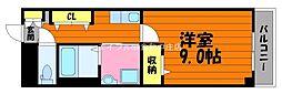 岡山県倉敷市阿知1丁目の賃貸マンションの間取り