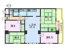 キャピタル新大宮[606号室]の間取り