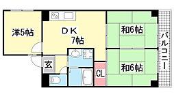 ロイヤルシャトーⅢ[404号室]の間取り