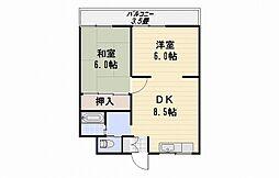 サンハウス86[302号室]の間取り
