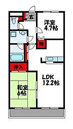 イーハトーブ苅屋[3階]の間取り