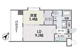 福岡県福岡市博多区博多駅南4丁目の賃貸マンションの間取り