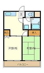 東京都江戸川区西葛西1丁目の賃貸マンションの間取り