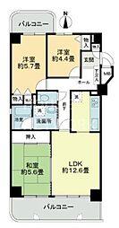 ライオンズマンション一条智恵光院[601号室号室]の間取り