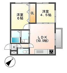 大島マンション印場元町[3階]の間取り