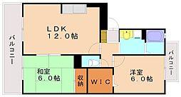 ボナールユー[3階]の間取り