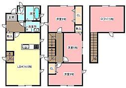 [一戸建] 静岡県浜松市中区高林3丁目 の賃貸【/】の間取り