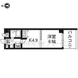 DETOM−1烏丸二条503[5階]の間取り