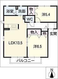 グランヴィル明和A棟[1階]の間取り
