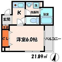 ドゥジェームシマ[2階]の間取り