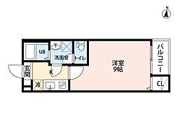 名古屋市営桜通線 吹上駅 徒歩10分の賃貸アパート 1階1Kの間取り