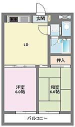 神奈川県横浜市鶴見区馬場4丁目の賃貸マンションの間取り