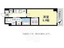 京王線 千歳烏山駅 徒歩12分の賃貸マンション 3階1Kの間取り