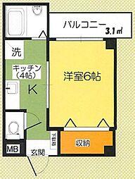 東京都板橋区板橋4丁目の賃貸マンションの間取り