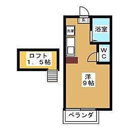 コートリバーサイド[2階]の間取り