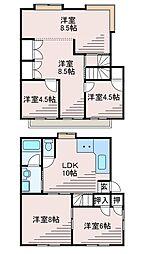 [一戸建] 東京都町田市成瀬が丘2丁目 の賃貸【/】の間取り