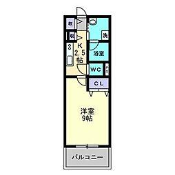 Altura(アルトューラ)[505号室]の間取り