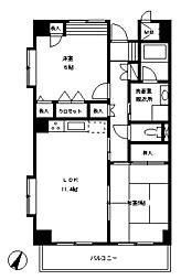 ラ・クレール[1階]の間取り
