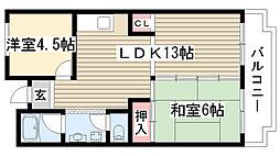 愛知県尾張旭市東栄町2丁目の賃貸マンションの間取り