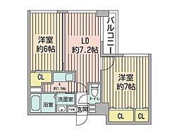 KDXレジデンス南三条[12階]の間取り