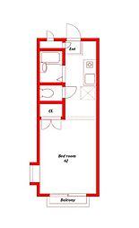 メゾンド大船[2階]の間取り
