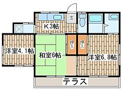 [一戸建] 神奈川県横須賀市佐野町4丁目 の賃貸【/】の間取り