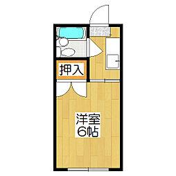サニーハウス堀[202号室]の間取り